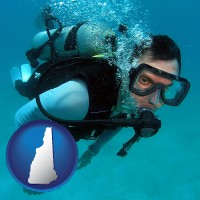 new-hampshire a scuba diver
