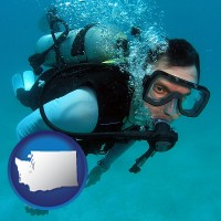 washington a scuba diver